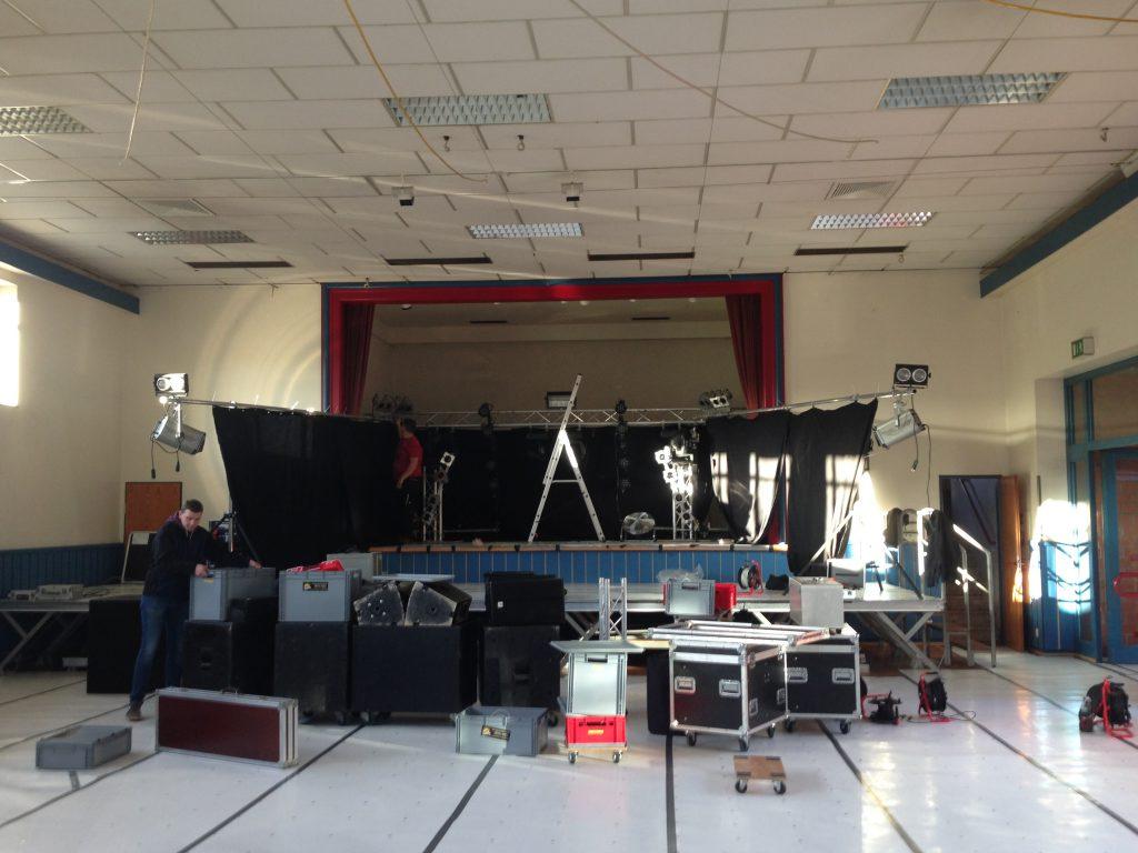 Aufbau der Bühne